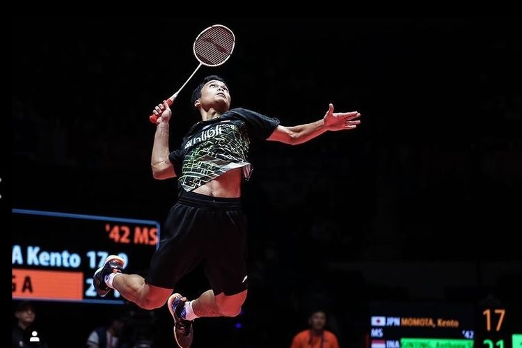 Unggul Peringkat dan Head to Head, Anthony Ginting (foto) Pede Hadapi Chen Long/instagram anthony ginting
