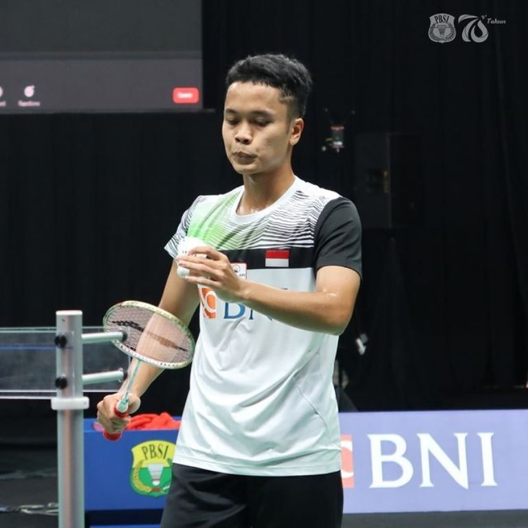 Pemain tunggal Indonesia Anthony Sinisuka Ginting  (@badminton.ina/Instagram)